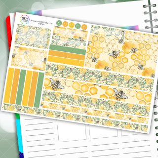 Bee and Leaves House Passion Planner Daily Sticker Kit