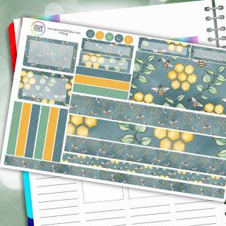 Honeybee Blues Passion Planner Daily Sticker Kit