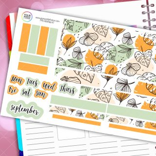 Green Space Monthly Passion Planner Daily Sticker Kit