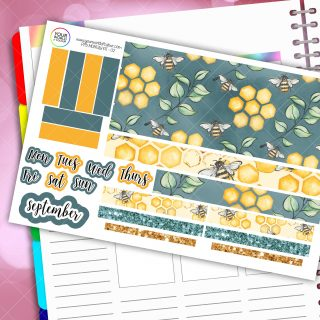 Bee Monthly Passion Planner Daily Sticker Kit