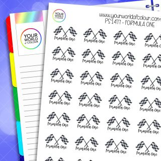 Formula One Planner Stickers