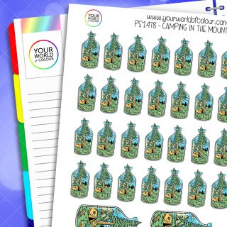 Camping In The Mountains Planner Stickers