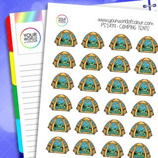 Camping Tents Planner Stickers