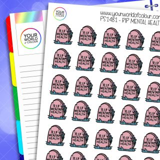 RIP Mental Health Planner Stickers