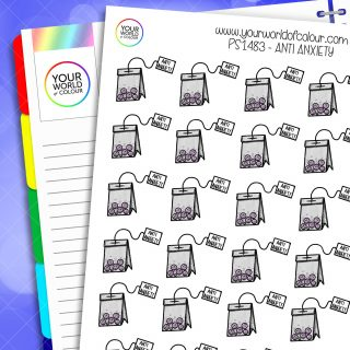 Anti Anxiety Planner Stickers