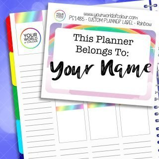 Custom Planner Name Label Sticker