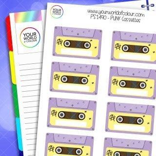 Punk Cassettes Planner Stickers