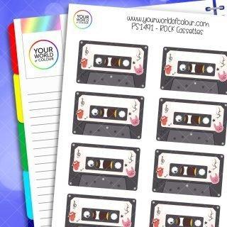 Rock Cassettes Planner Stickers