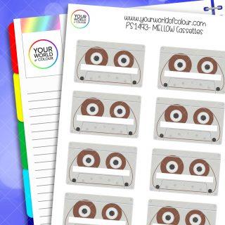 Mellow Cassettes Planner Stickers