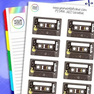 Jazz Cassettes Planner Stickers