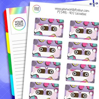90's Cassettes Planner Stickers