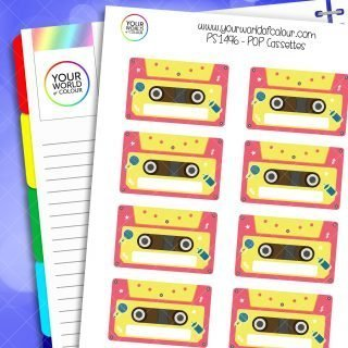 Pop Cassettes Planner Stickers