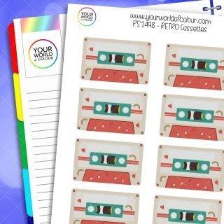 Retro Cassettes Planner Stickers