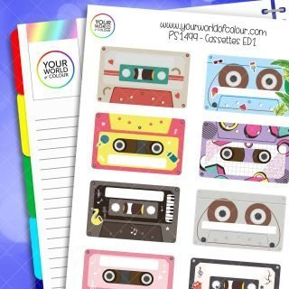 Cassettes Planner Stickers - Version 1