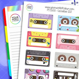 Cassettes Planner Stickers - Version 2