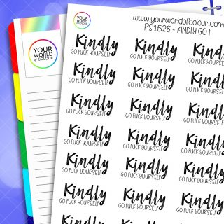 Kindly Go F Planner Stickers