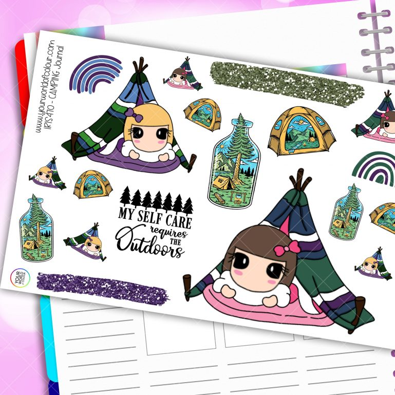 Camping Journaling Planner Stickers