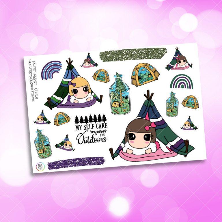 Camping Journaling Planner Sticker