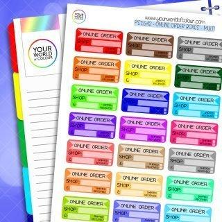 Online Order Planner Stickers