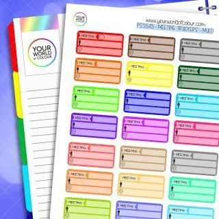 Meeting Tracker Planner Stickers