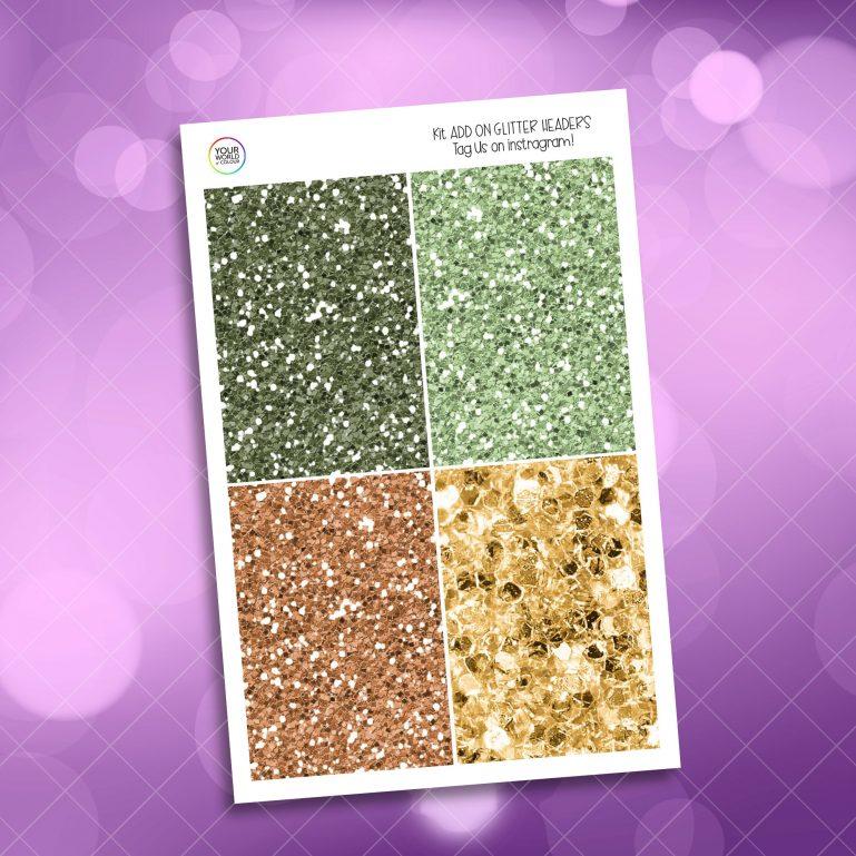 Tezzao Glitter Headers