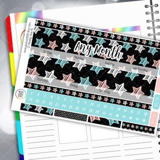 Shooting Star Monthly Planner Sticker Kit