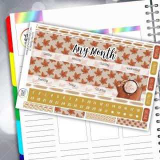 Spiced Autumn Monthly Planner Sticker Kit
