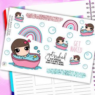 Bathtub Journaling Planner Stickers