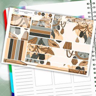 Boho Dream Passion Planner Daily Sticker Kit