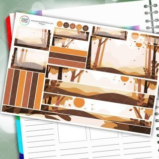 Autumnal Forest Passion Planner Daily Sticker Kit