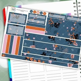 Hazed Floral Passion Planner Daily Sticker Kit