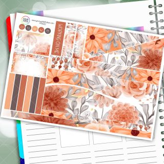 Floral Blooms Passion Planner Daily Sticker Kit