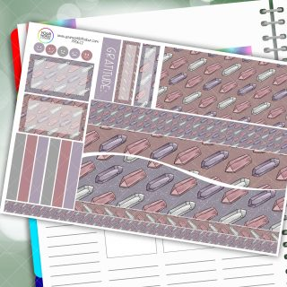 Gemstones Passion Planner Daily Sticker Kit