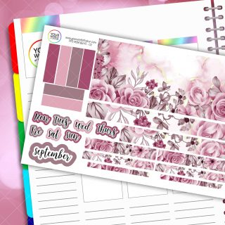 In Full Bloom Passion Planner Daily Sticker Kit