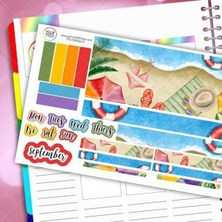 Beach Monthly Passion Planner Daily Sticker Kit