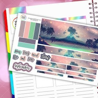 Volcano Island Monthly Passion Planner Daily Sticker Kit