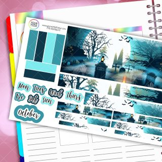 Spook Grave Monthly Passion Planner Daily Sticker Kit