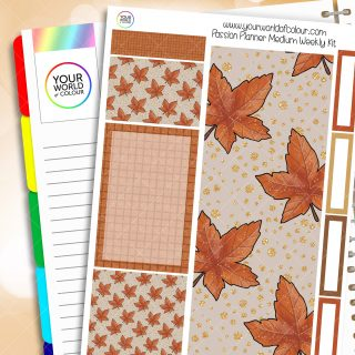 Leaves Are Falling Passion Planner Weekly Kit