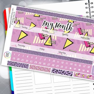 Schools Out Monthly Planner Sticker Kit