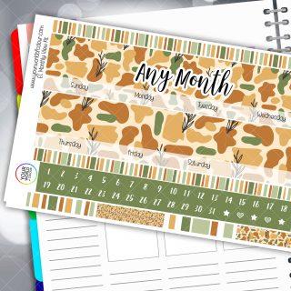 Design Monthly Planner Sticker Kits