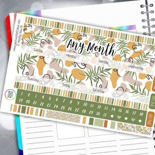 Forest Flo Monthly Planner Sticker Kit