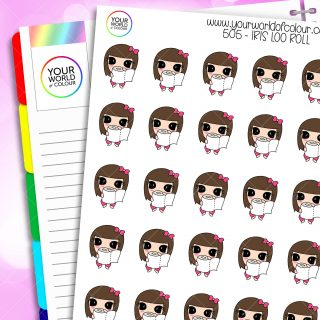 Iris Loo Roll Character Stickers