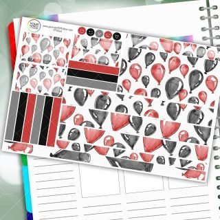 Balloons Passion Planner Daily Sticker Kit