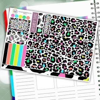 Bright Leopard Passion Planner Daily Sticker Kit