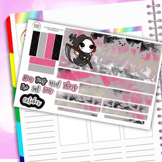 Scare Fest Monthly Passion Planner Daily Sticker Kit