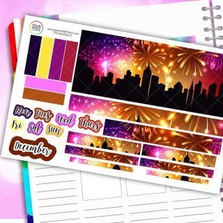 Fireworks Night Monthly Passion Planner Daily Sticker Kit