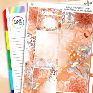 Autumn Passion Planner Weekly Kit