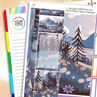 Floral Mountains Passion Planner Weekly Kit